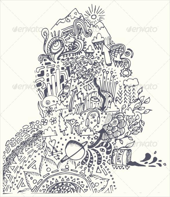 doodle vector artwork psd download