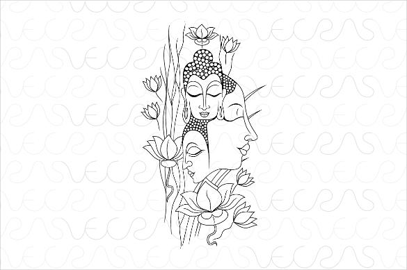 buddha meditation vector artwork eps download