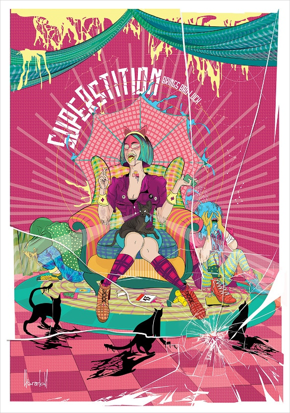 superstition vector artwork download