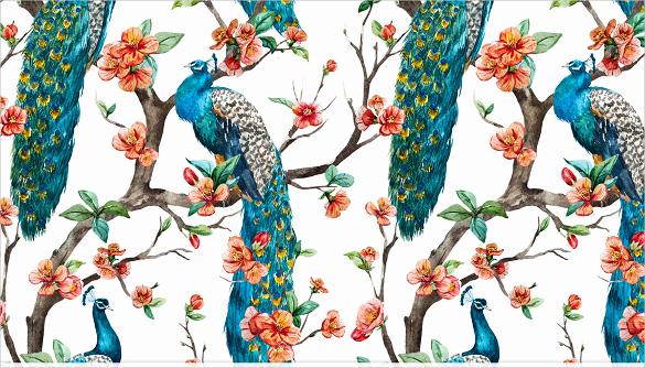 watercolor set of peacock download