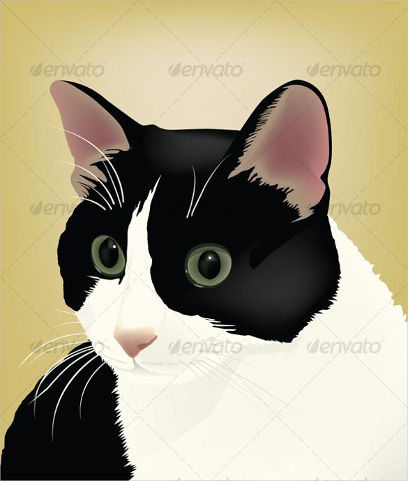 cat portrait vector artwork download