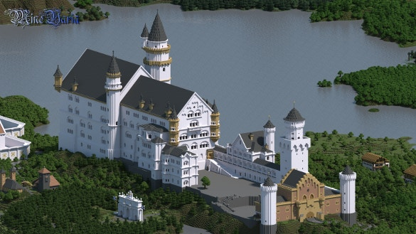 the swan kings castle minecraft background download