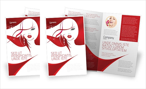Glamours Brochure Word Template For Saloon Download  Free Brochure Templates For Word To Download