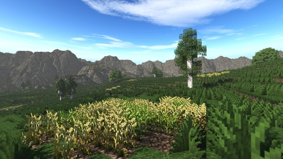 beautiful scene minecraft background download