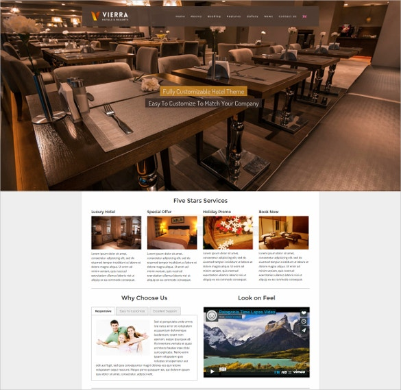 responsive hotel coupon wordpress theme