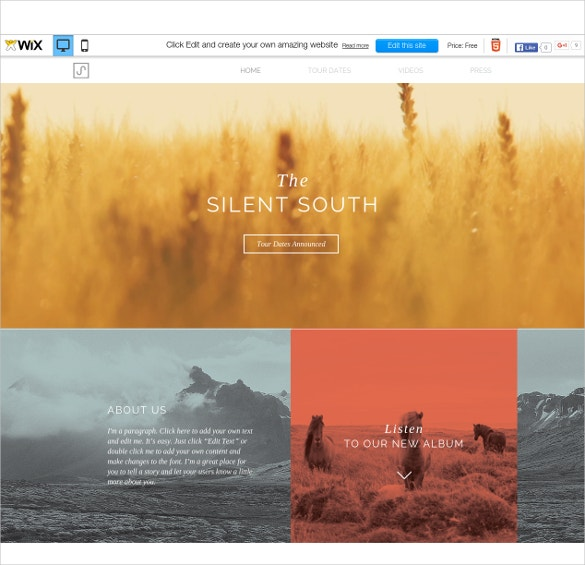 free south folk wix theme