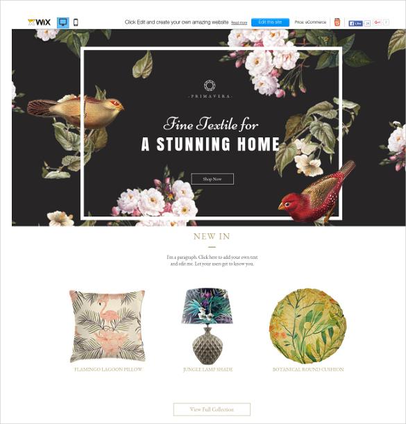 free textile studio wix theme
