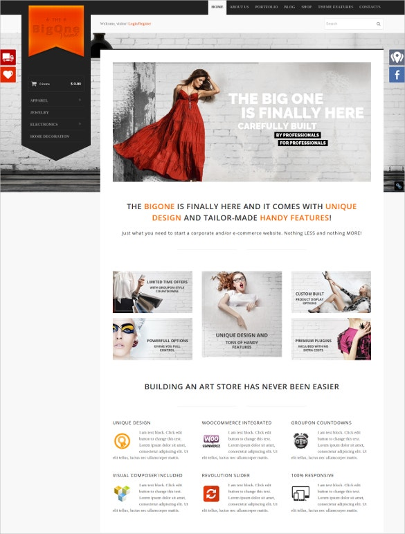 coupon wordpress woocommerce website theme