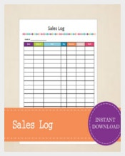 Printable and Editable Sales Tracker Template