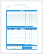 Biweekly Time Tracker Template PDF Format Download