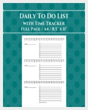 Daily Time Tracker Template Download