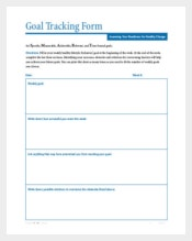 Goal Tracking Form PDF Format Download
