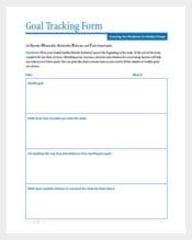 Goal Tracking Form PDF Format Download
