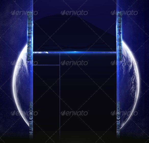 space youtube background template download