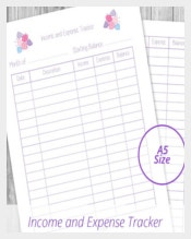 Income and Expense Tracker Pastel Pink Flowers Template Download