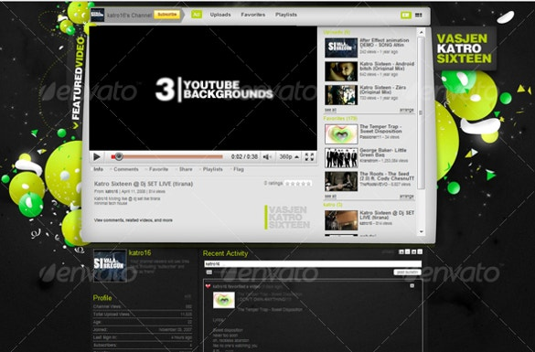 thematic youtube background template download