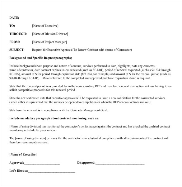 executive approval memo template download in pdf1