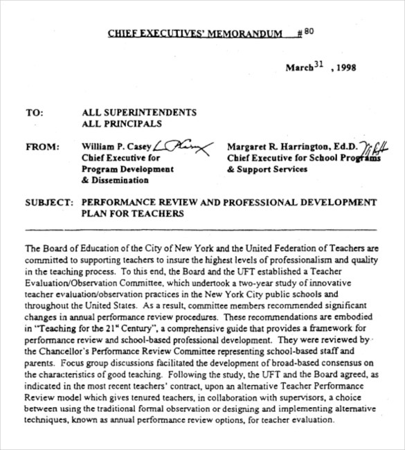 Chief Executives Memo Example Format Download  Professional Memo Format Template