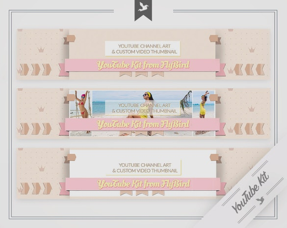 complete youtube channel art template download
