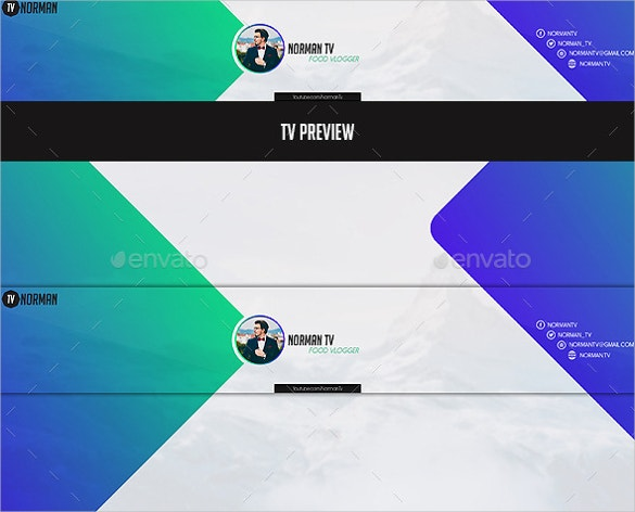 professional youtube channel art download