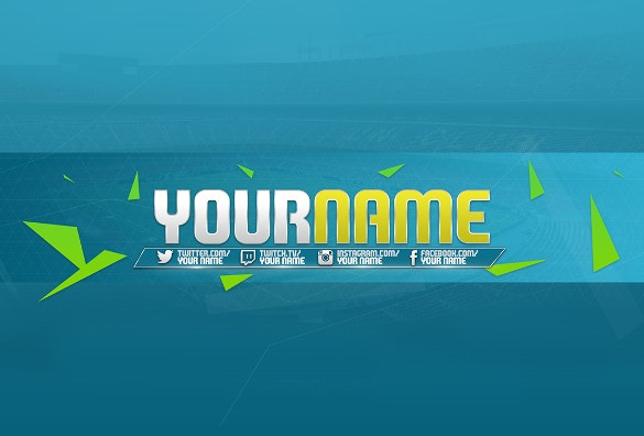Youtube channel art template 42 free psd ai vector eps format blue background youtube channel art download pronofoot35fo Images