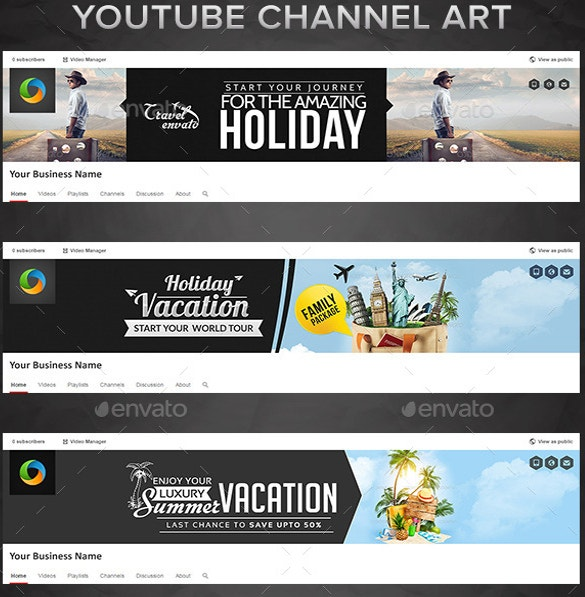 Youtube channel art template 42 free psd ai vector eps format 6 travel youtube channel arts download pronofoot35fo Images