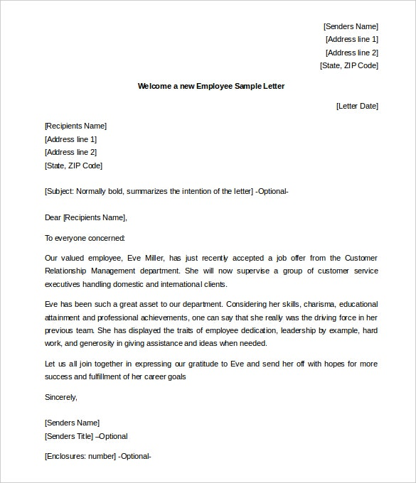New Manager Welcome Letter To Team from images.template.net