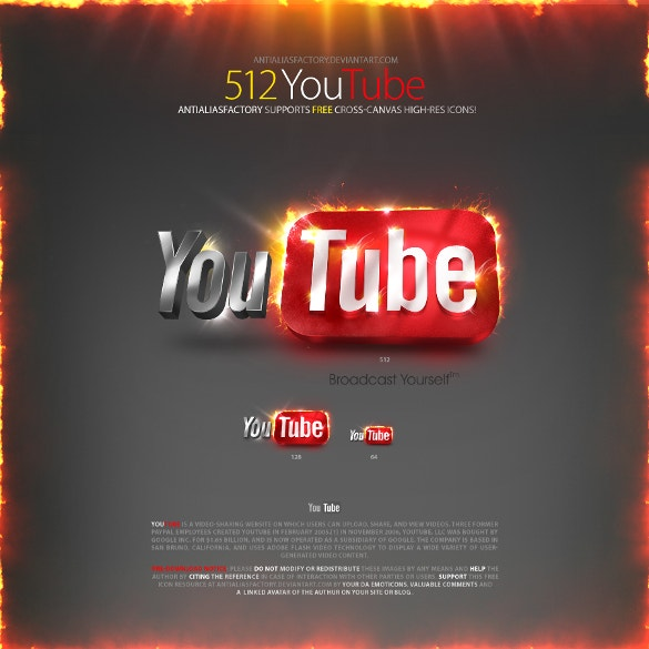 thematic youtube icon for download