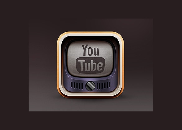 vintage youtbe icon download