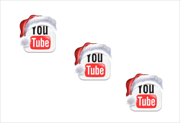 christmas theme youtube icons for download