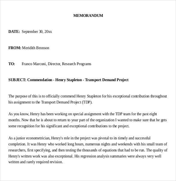 Internal Memo Templates  Free Sample Example Format Download