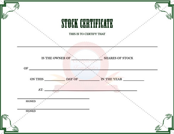 stock certificate template to download in pdf printable