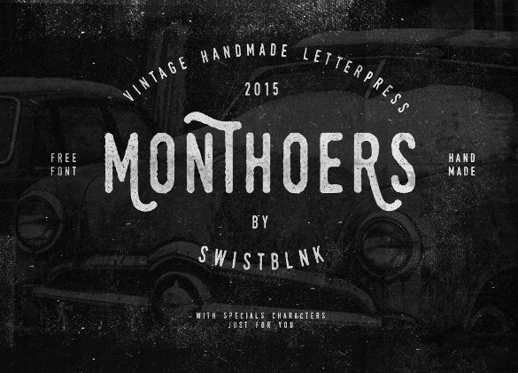 monthoers free font download