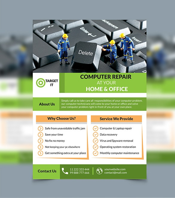 26  computer repair flyer templates