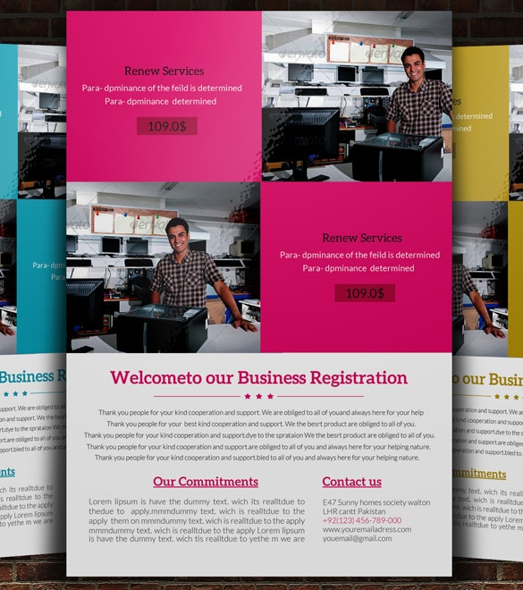 download computer repair service flyer template psd file