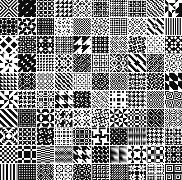 monochrome geometric patterns download
