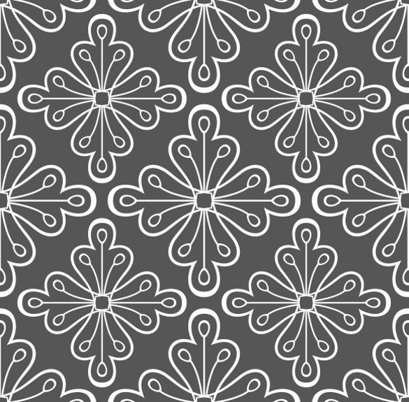 geometric pattern with flowers download