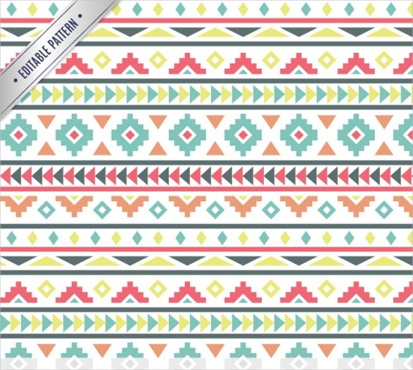 colored geometric pattern in tribal style free download