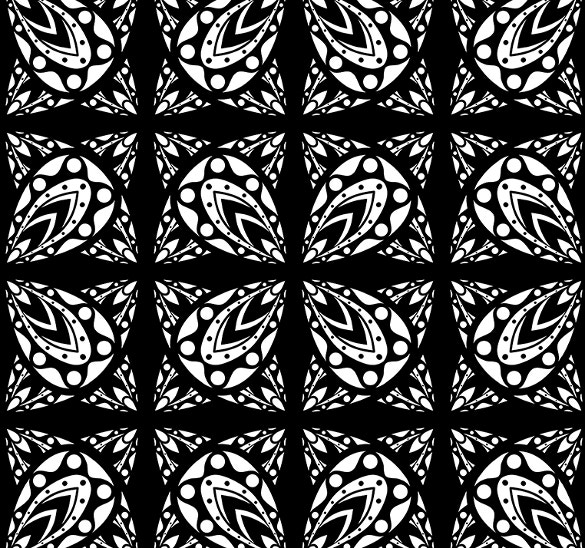 seamless black and white geometric pattern download