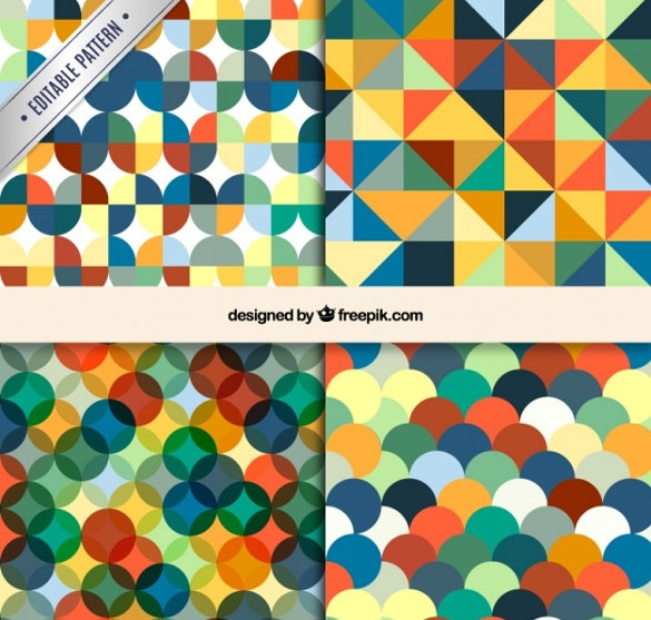 colorful geometric patterns free vector download