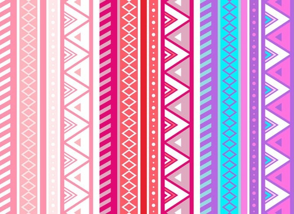 free pink aztec geometric seamless vector pattern download