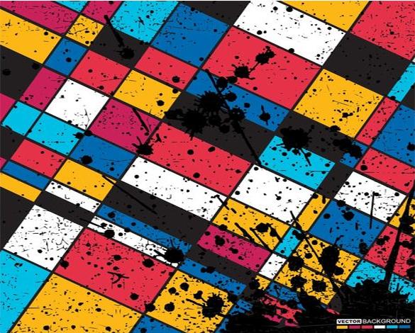 geometric grunge pattern free download