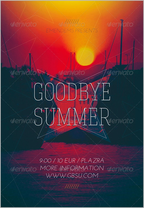 good bye farewell party flyer download1
