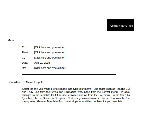 professional memo template for comany promotion document download in word1