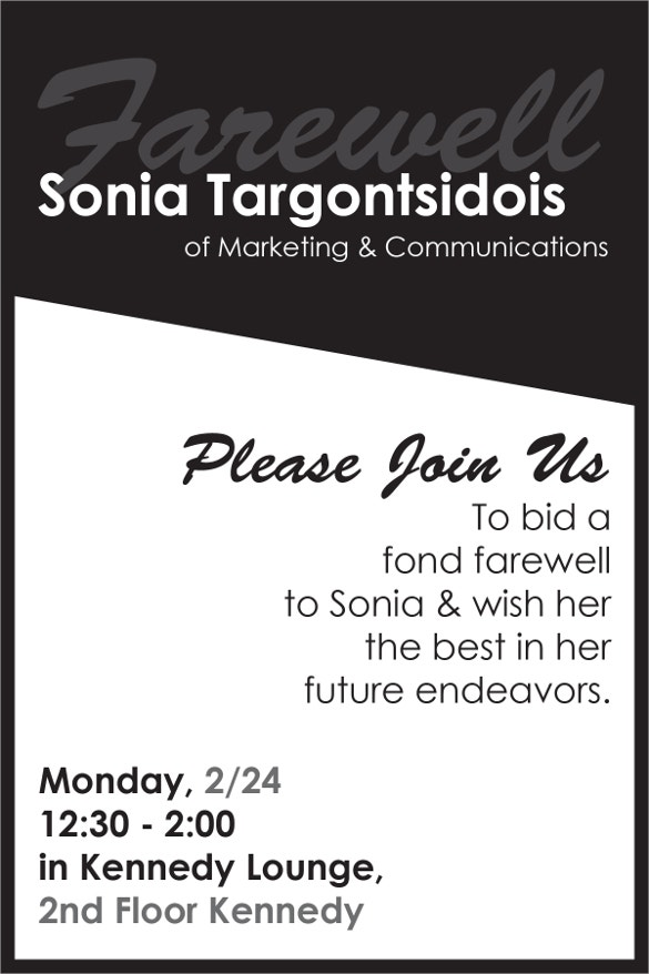 corporate farewell party flyer