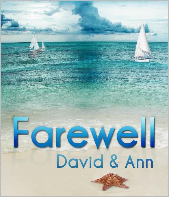 farewell invitation flyer for club