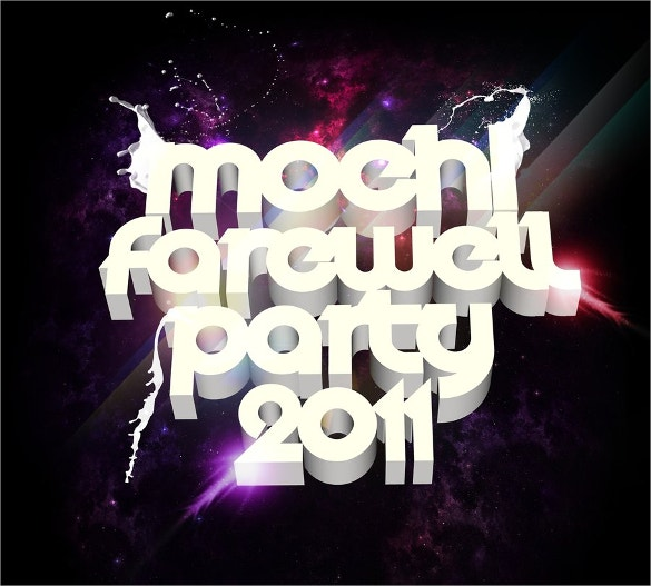 farewell party flyer for new year download