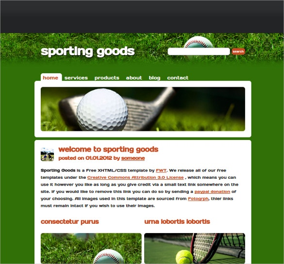 sports academy website template