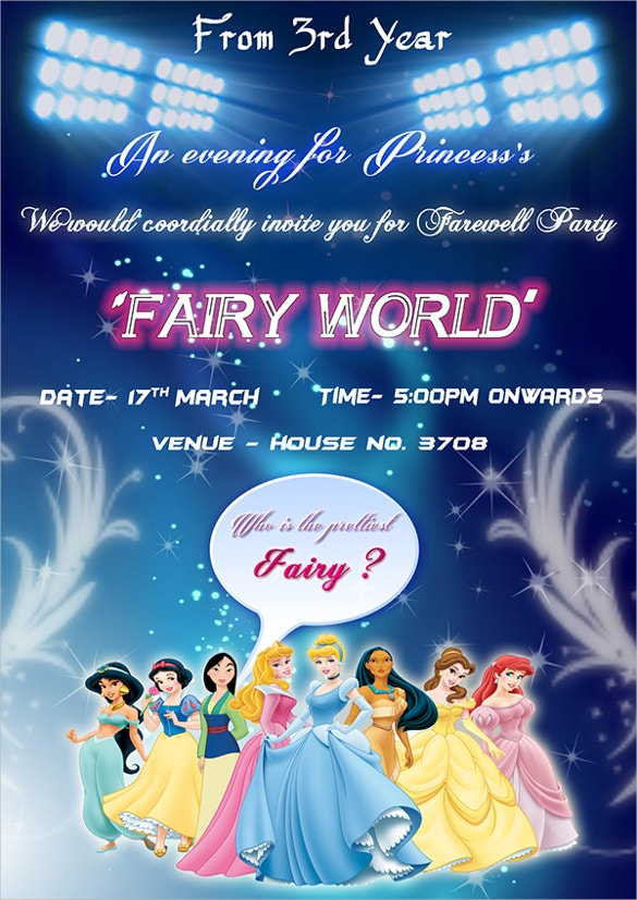 girls farewell party flyer download1