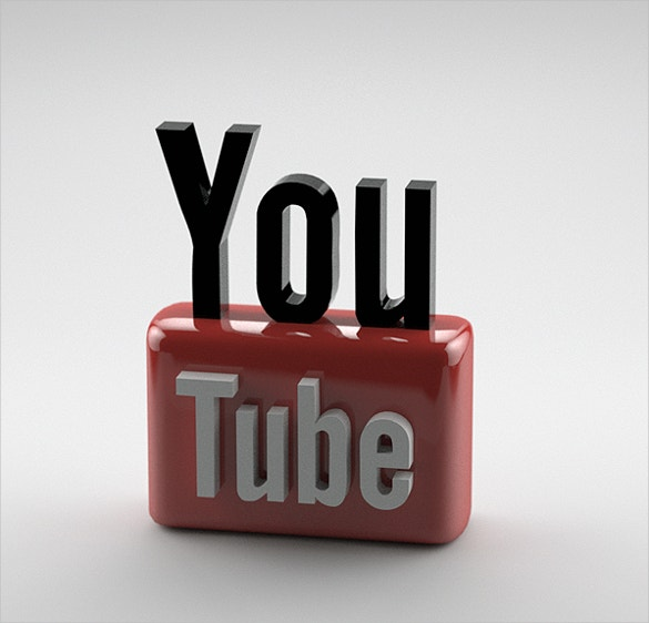 3d youtube logo free download